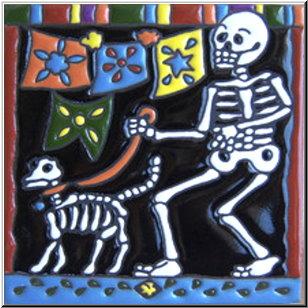 Day of the Dead Talavera Tile Albuquerque